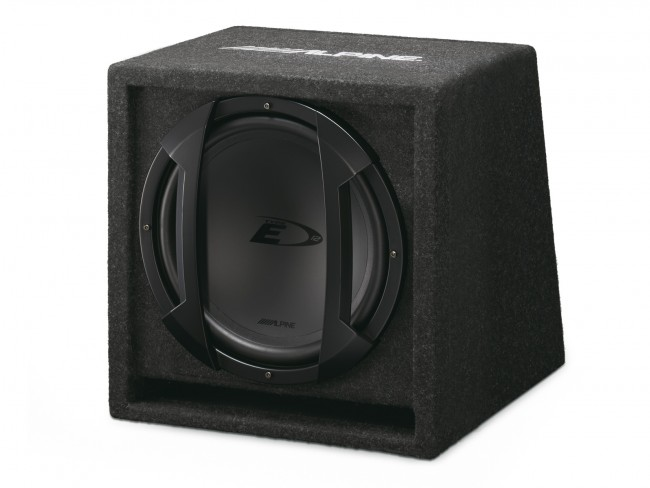 subwoofer with enclosure alpine sbe 1244br 30 cm. Black Bedroom Furniture Sets. Home Design Ideas