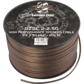 Speaker cable Ground Zero GZSC 2-2.50 (2 x 2.50 mm2 / meter)