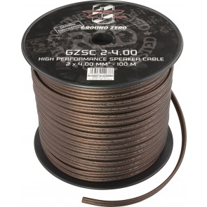 Speaker cable Ground Zero GZSC 2-4.00 (2 x 4.00 mm2 / meter)