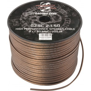 Speaker cable Ground Zero GZSC 2-1.50 (2 x 1.50 mm2 / meter)
