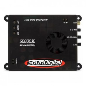 Car amplifier SounDigital SD600.1D Nano (1Ohm)