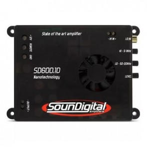 Car amplifier SounDigital SD600.1D Nano (2Ohm)